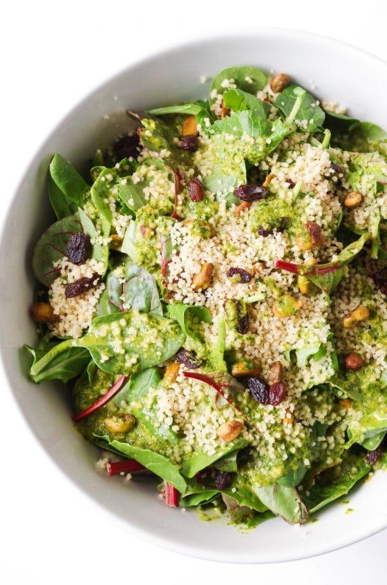 Couscous Salad with Cilantro Orange Dressing