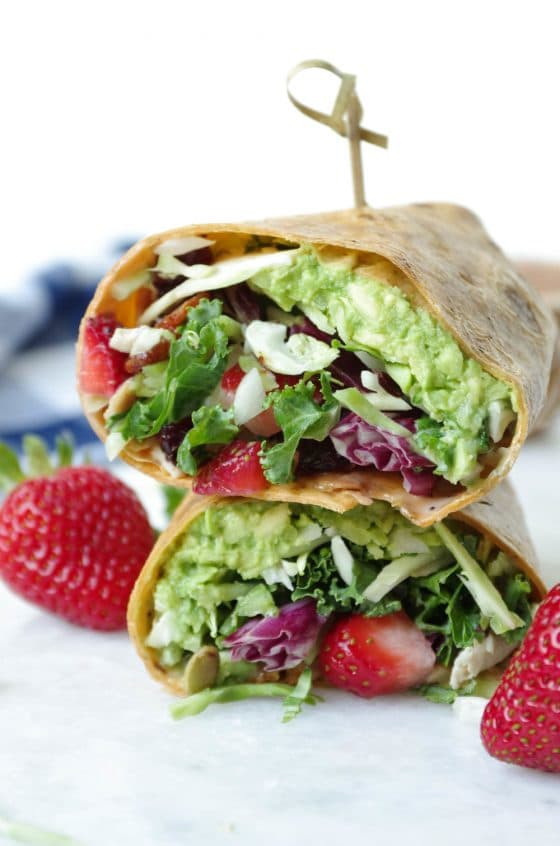 Chicken and Bacon Salad Wraps with Poppyseed Dressing