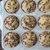 Healthy Zucchini Chocolate Chip Muffins