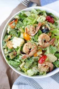 Eat Your Veggies Shrimp Salad with Avocado Cilantro Dressing