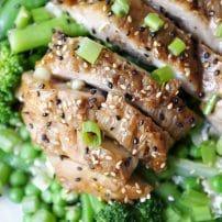 Homemade Chicken Teriyaki Broccoli Salad