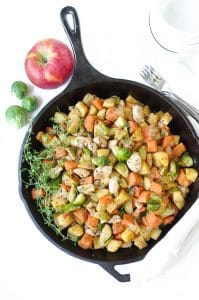 Autumn Chicken Skillet with Apples and Sweet Potatoes