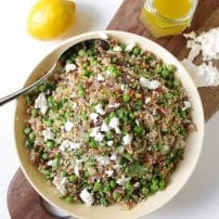 Pea and Quinoa Salad with Lemon Honey Vinaigrette