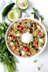 Green Chicken Chili Enchilada Soup