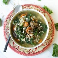 Winter Vegetable and Oat Soup