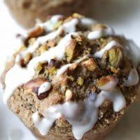 Healthy Pistachio Chai Muffins