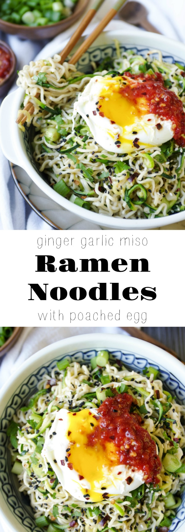 Ginger Garlic Miso Ramen Noodles with Poached Egg - The ...