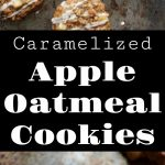cookie pan with multiple APPLE OATMEAL COOKIES with oats sprinkled