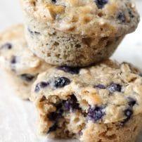 Blueberry Yogurt Oatmeal Muffins