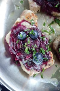 Easy Pork Chops with Blueberry Apple Compote