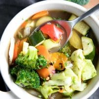 Rainbow Garden Vegetable Soup