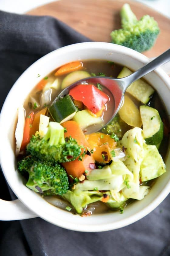 Rainbow Garden Vegetable Soup