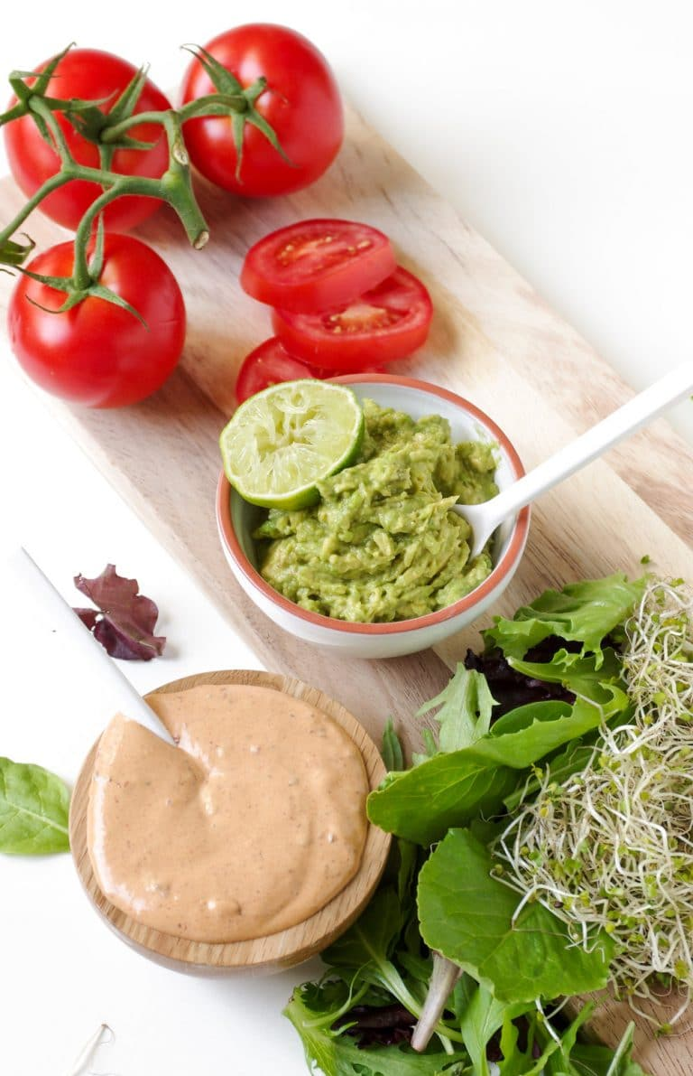 Easy Cauliflower Veggie Burgers with Avocado and Chipotle ...