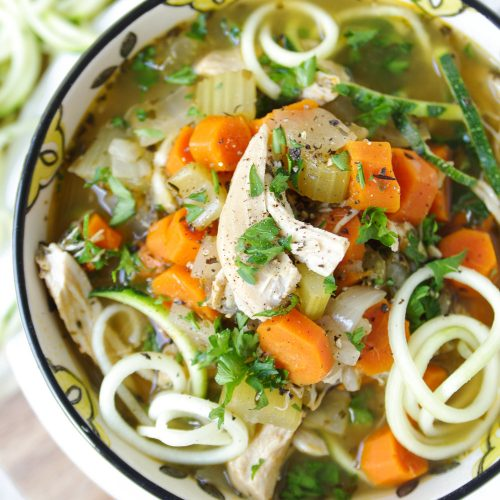Chicken and Vegetable Zoodle Soup