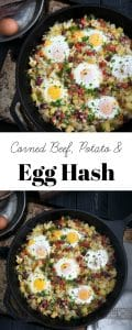 Corned Beef, Potato, and Egg Hash