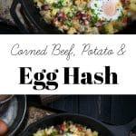 Corned Beef, Potato, and Egg Hash