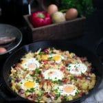 Corned Beef, Potato and Egg Hash