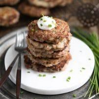 Irish Corned Beef Potato Pancakes