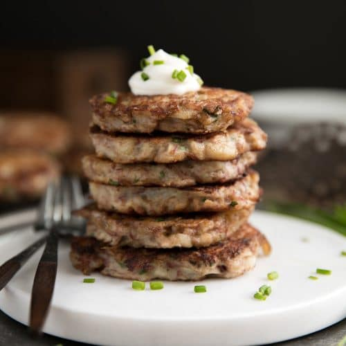 Irish Corned Beef Potato Pancakes