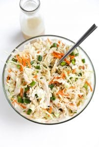 Chicken and Cabbage Salad with Light Sesame Vinaigrette