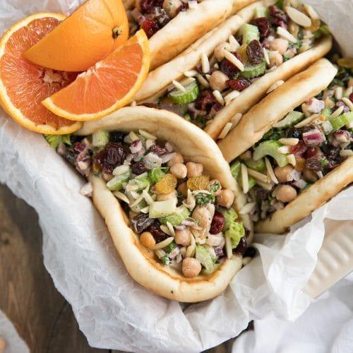 Chickpea Tahini Salad Wraps