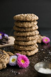 Chocolate Chunk Almond Butter Oatmeal Cookies