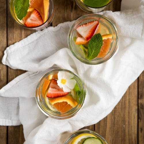 Fruit Infused Ginger Ale (No Sugar Added)
