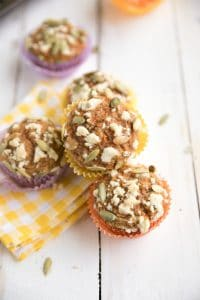 Carrot Cake Muffins with Streusel Topping