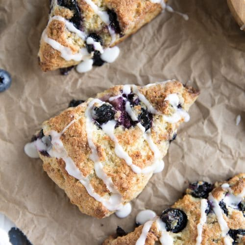 A blueberry scone