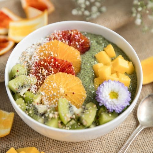 Matcha Chia Pudding Fruit Bowl