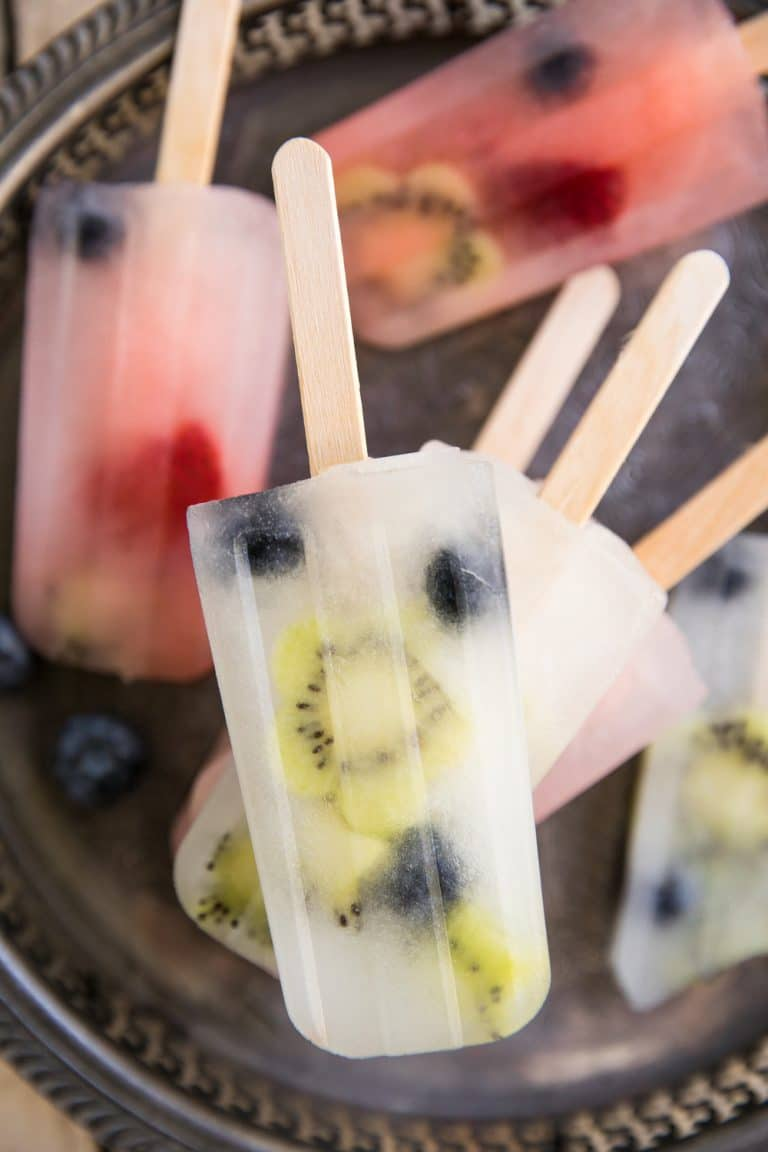 Lemonade and Fruit Popsicles
