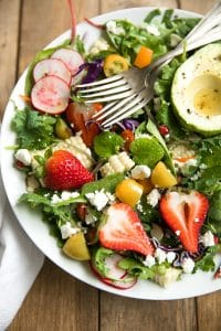 Springtime Baby Kale and Strawberry Salad