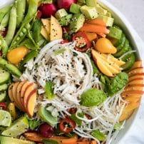 Nectarine Summer Salad with Shredded Chicken