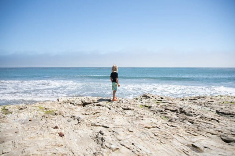 boy near ocean