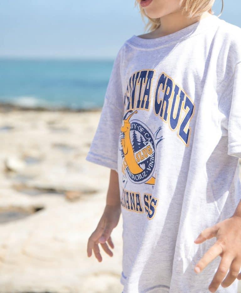 boy wearing UCSC shirt