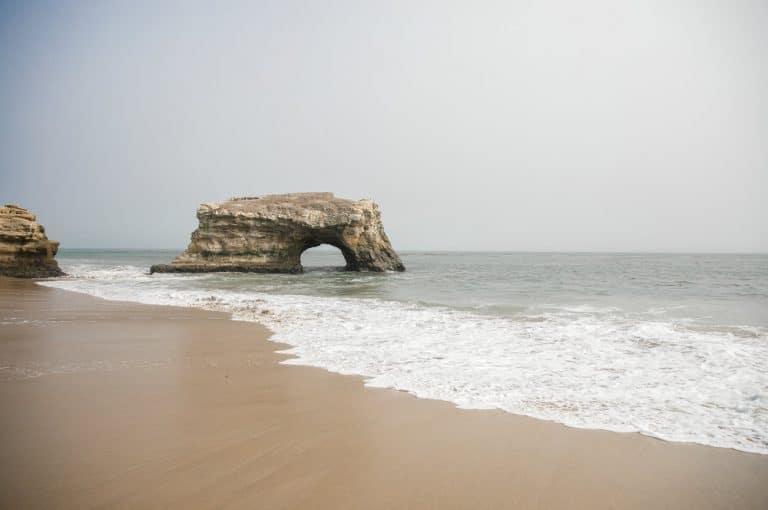 arch rock in ocean