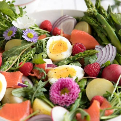 Fresh Spring Salad with Smoked Salmon