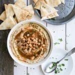 Homemade White Bean Hummus with Za'atar and Sweet Paprika