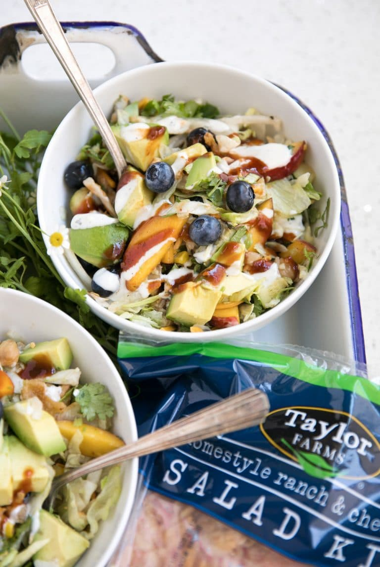 BBQ Chopped Blueberry and Chickpea Salad with Taylor Farms