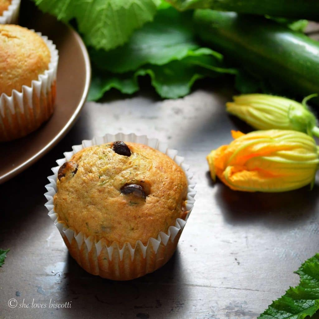 HEALTHY DARK CHOCOLATE CHIP ZUCCHINI MUFFINS