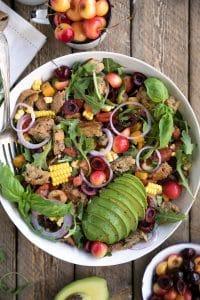 Cherry & Rocket Panzanella Salad