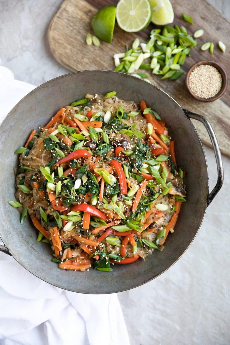 Korean Glass Noodle Stir-Fry