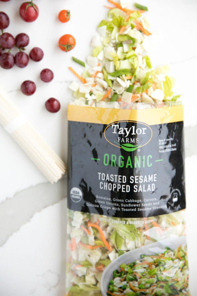 taylor farms salad bag opened