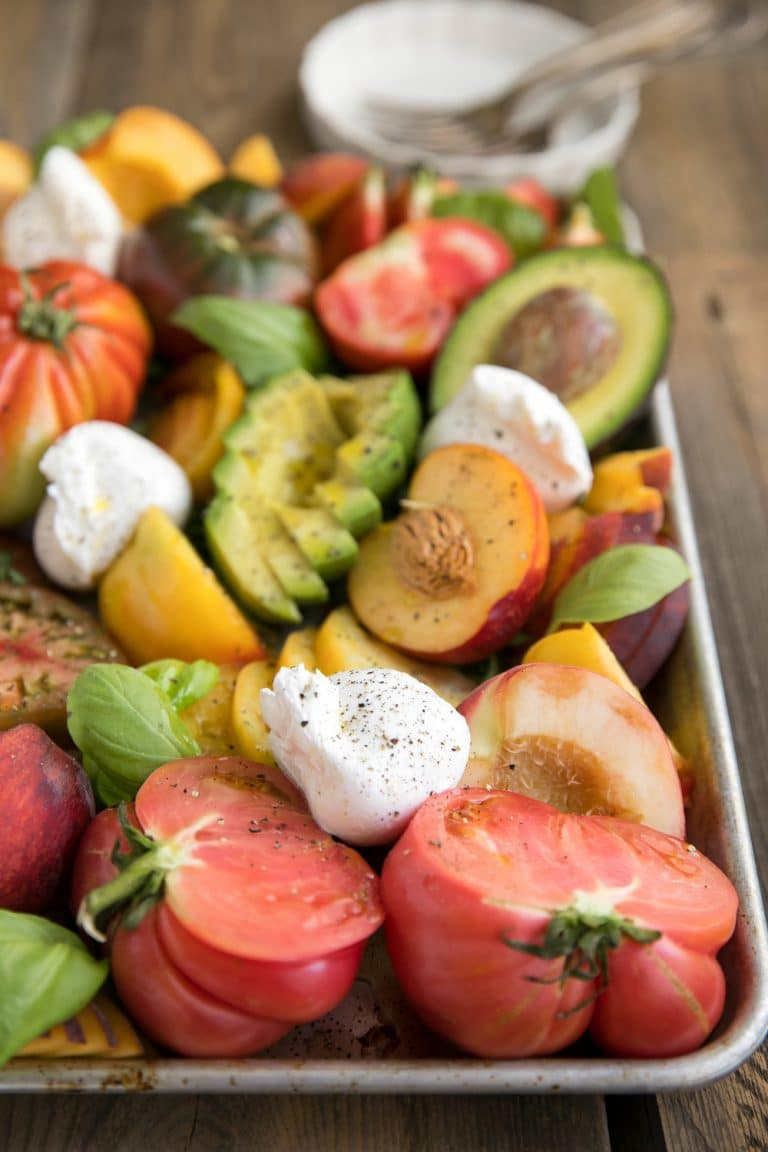 Heirloom Tomato and Burrata Salad with Avocado