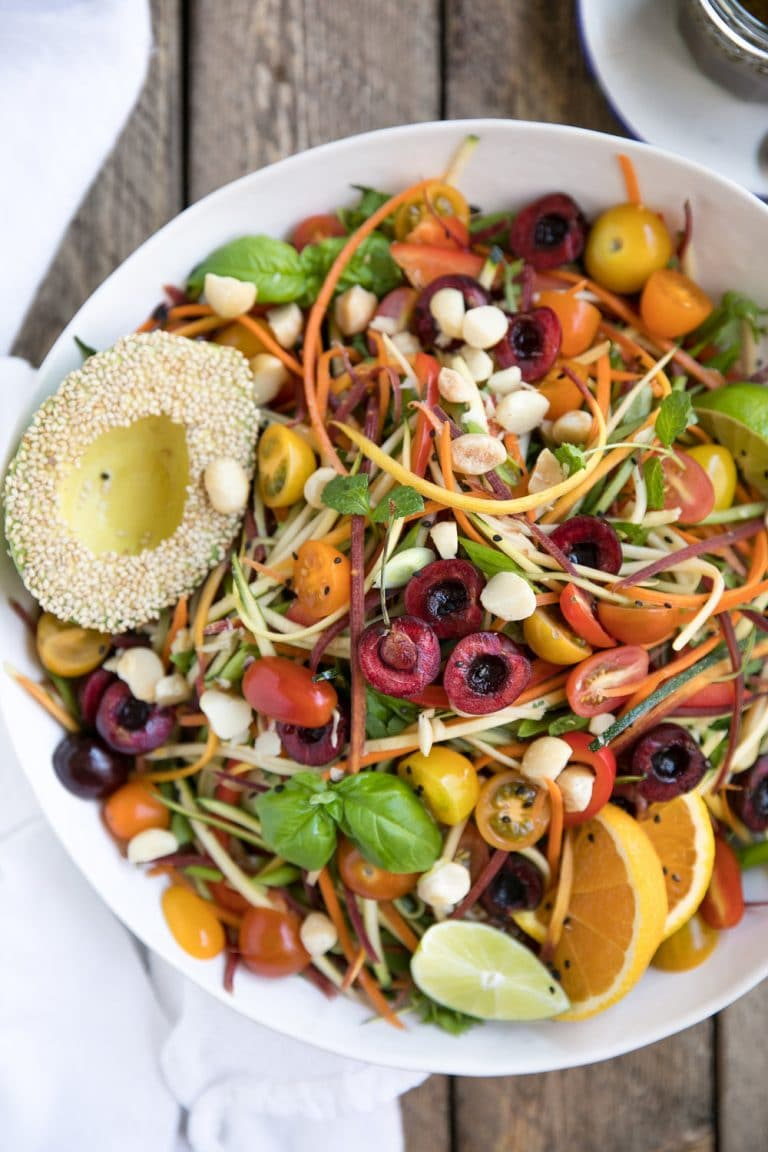 Zesty Veggie Noodle Salad with avocado