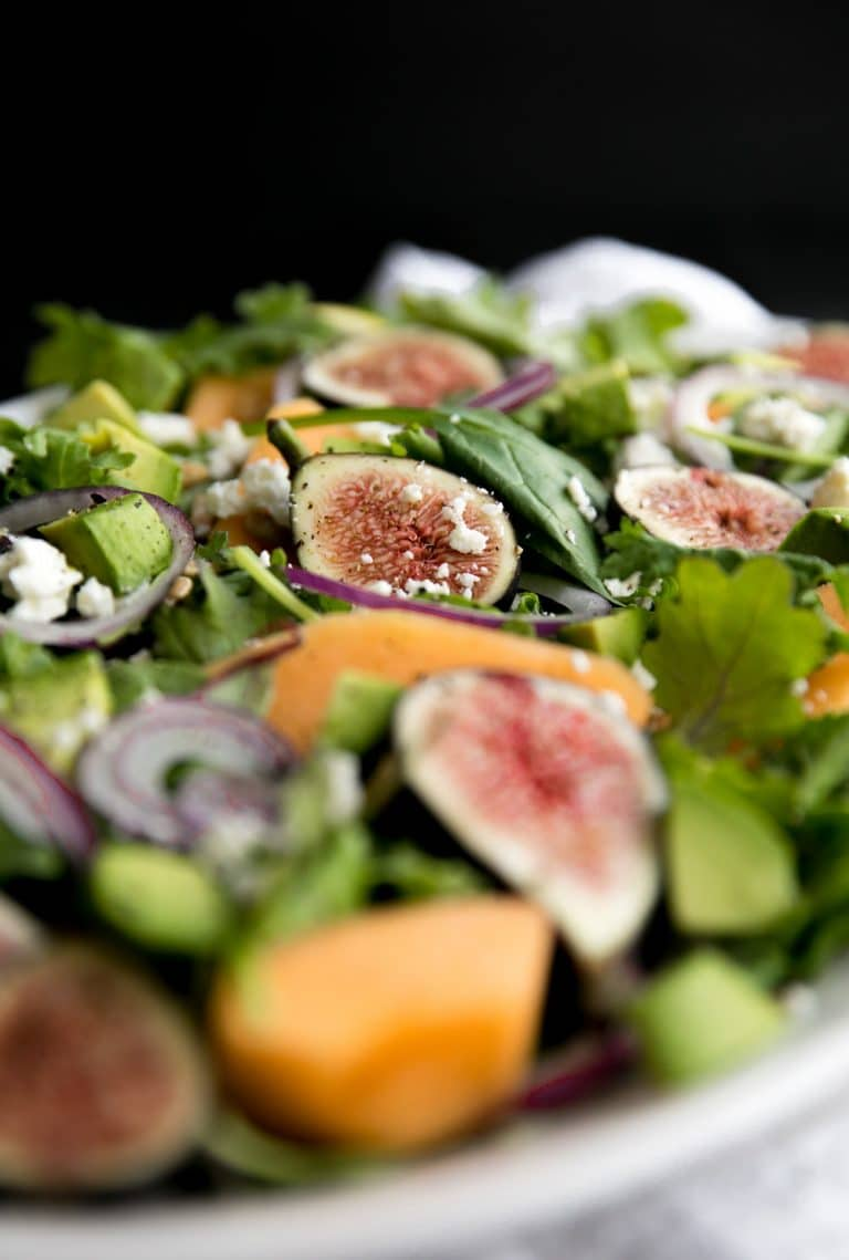 Fig and Melon Salad zoom in photo