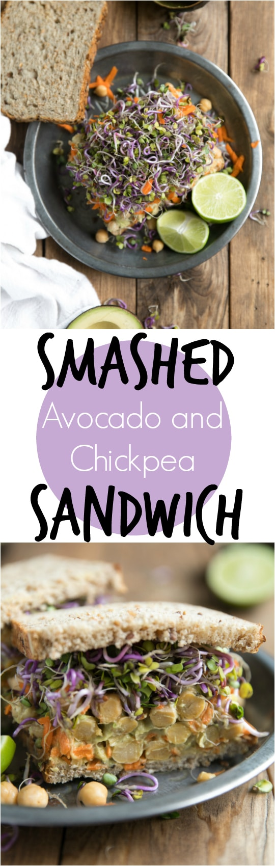 Smashed Avocado and Chickpea Sandwich.  Delicious and so super healthy, this Smashed Avocado and Chickpea Sandwich is lunch done right.  #theforkedspoon #healthyreciepe #lunch #easylunch #sandwhich