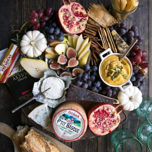 Beautiful Autumn Cheese Board (Vegetarian)