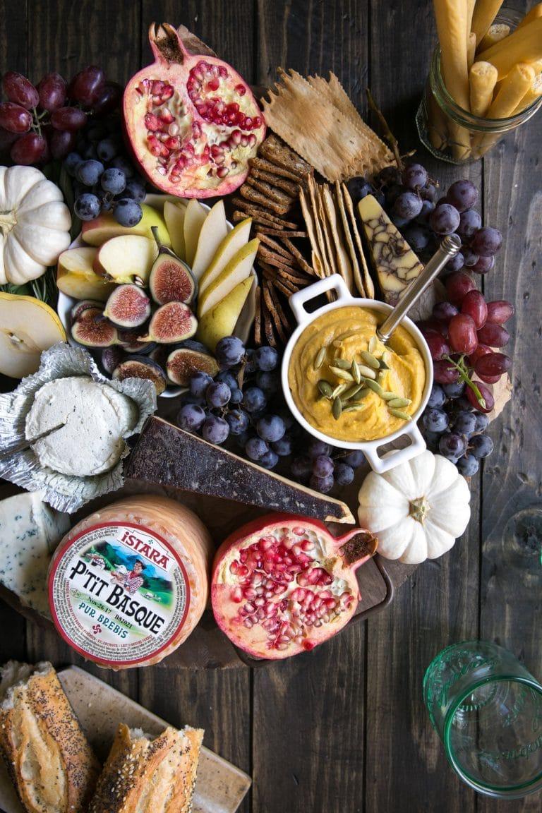 bursting Autumn Cheese Board