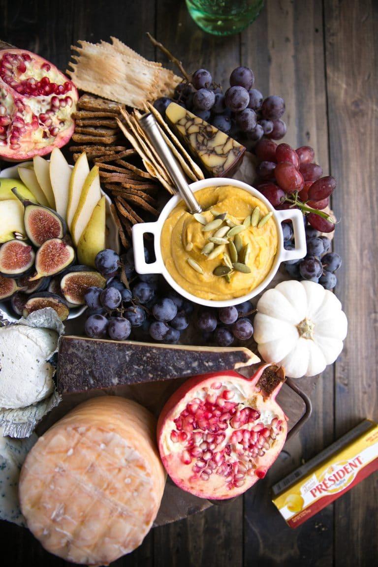 overhead photo of Autumn Cheese Board